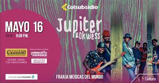 Concierto de JUPITER y OKWESS en Bogotá