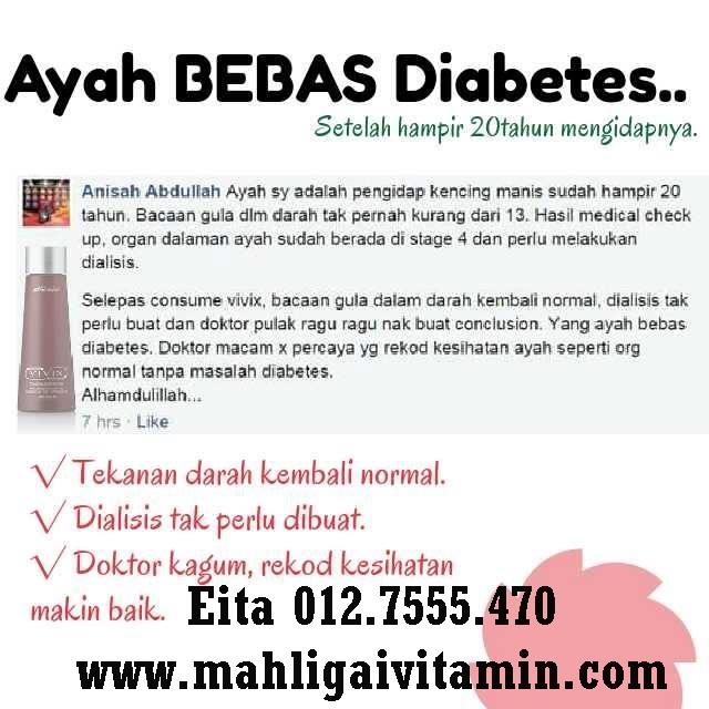 vivix kencing manis diabetis