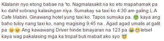 Isang Babae Lasing na Lasing nawalan ng Malay sa Loob ng Taxi! Alamin Ang Ginawa ng Driver Sigurong Magugulat Kayu!