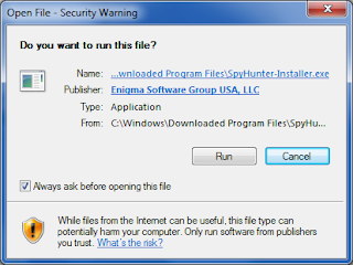 the screenshot of security warning when opening file