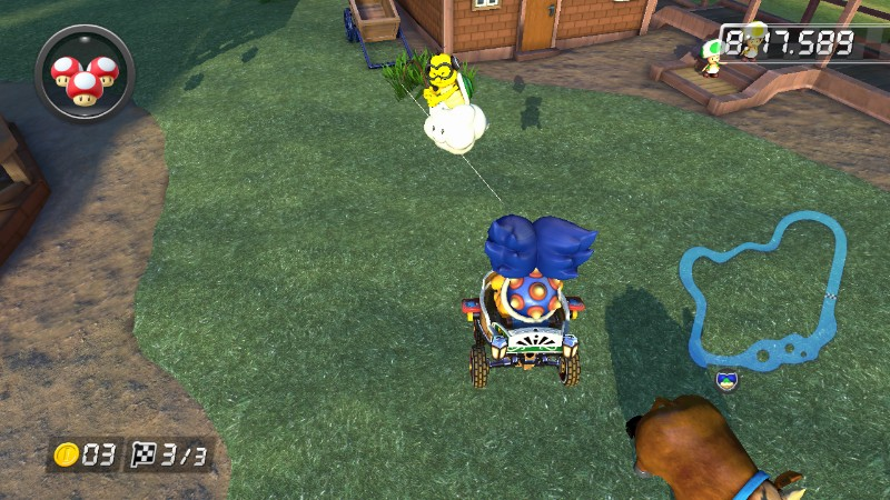 Lakitu rescues Ludwig Von Koopa Mario Kart 8