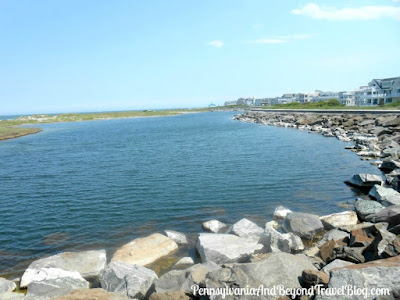 The Beautiful North Wildwood Seawall in New Jersey