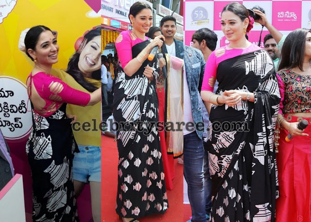 Tamannah in Black Masaba Saree