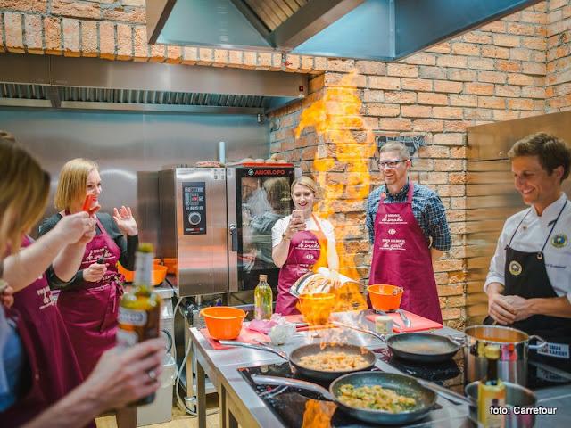 z milosci do smaku, warsztaty kulinarne, blogerzy kulinarni, gotowanie, studio kulinarne, smak kariery, carrefour, ksiazka kulinarna, kuchnia francuska, blogerzy gotuja,, spotkanie w kuchni, konkurs kulinarny, relacja z warsztatow, recenzja