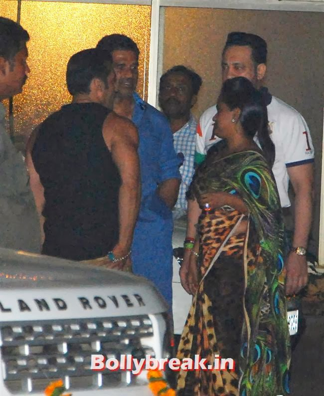 Sunil Shetty and Salman Khan, Sohail Khan Diwali Bash