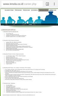 Banyak posisi Lowongan kerja terbaru juli di Inola