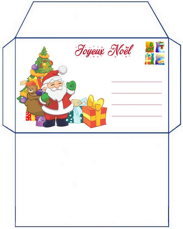Enveloppe de noel a imprimer gratuit - Enveloppe de noel ...
