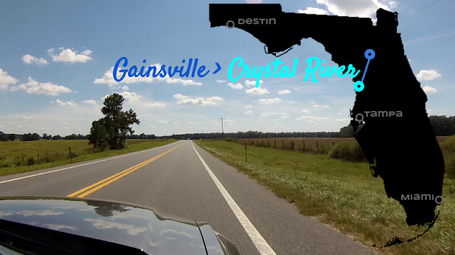 Gainsville nach Crystal River, Florida USA