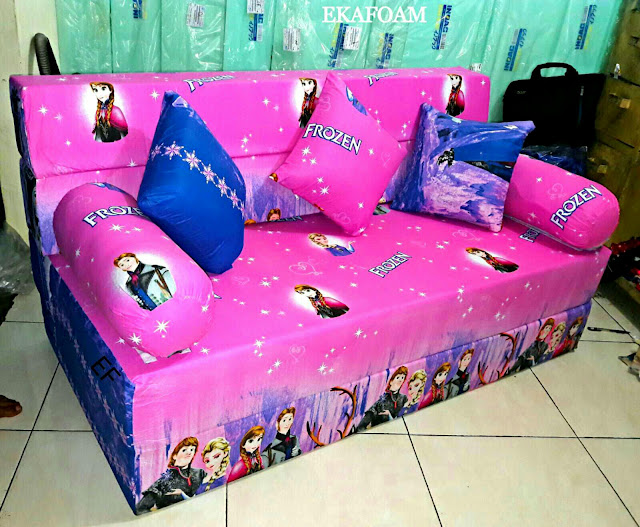 Sofa bed inoac motif frozen ping