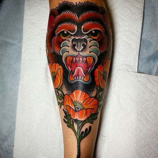 tumblr bear tattoo design