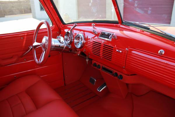 1949 Chevy 3100 interior