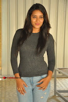 Actress Bhanu Tripathri Pos in Ripped Jeans at Iddari Madhya 18 Movie Pressmeet  0046.JPG