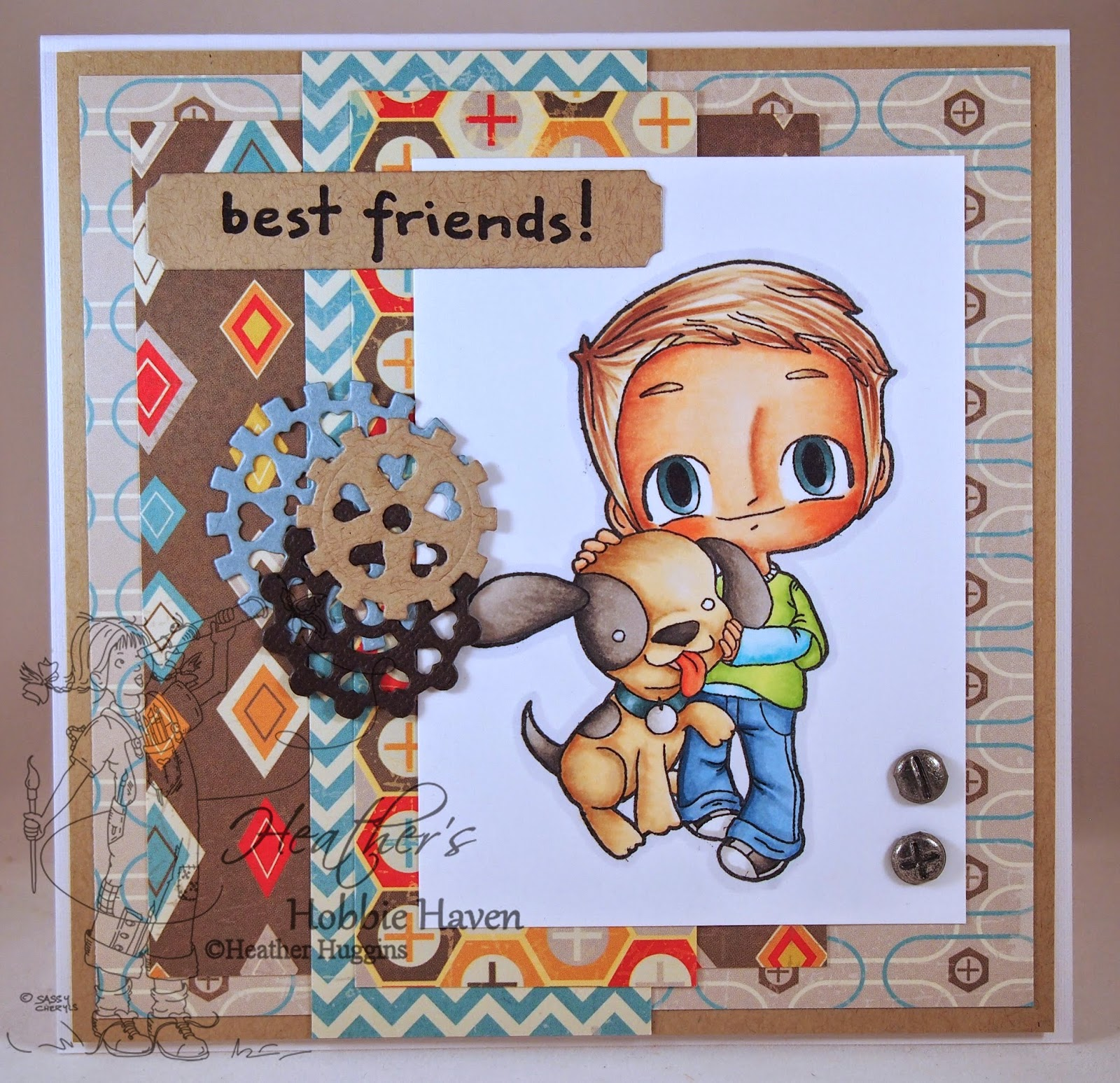Heather's Hobbie Haven - Tobie with His Puppy Card Kit