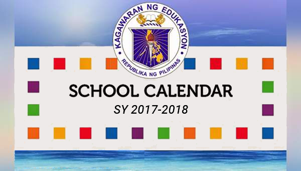 DepEd School Calendar for School Year 2017-2018