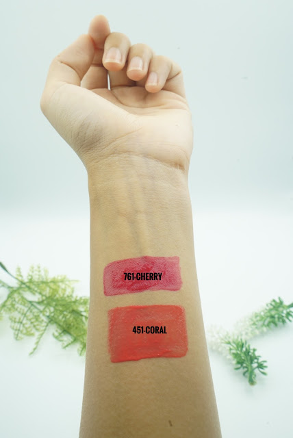 DIOR LIP TATTOO SWATCHES AND REVIEW (451-NATURAL CORAL & 761-NATURAL CHERRY)