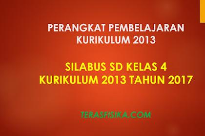 Download Silabus SD Kelas 4 Kurikulum 2013 Revisi 2017