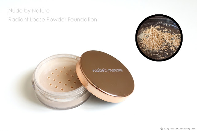 Nude by Nature Radiant Loose Powder Foundation in shade N4 Silky Beige Review Swatch