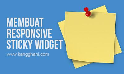 Cara Membuat Responsive Sticky Widget di Sidebar Blog