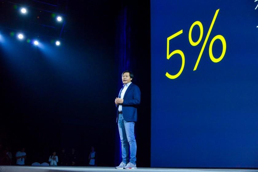Xiaomi margine di profitto al 5%