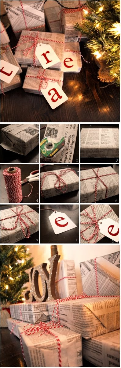 Brown Paper Packages Tied Up With EVERYTHING {including string - christmas list templates