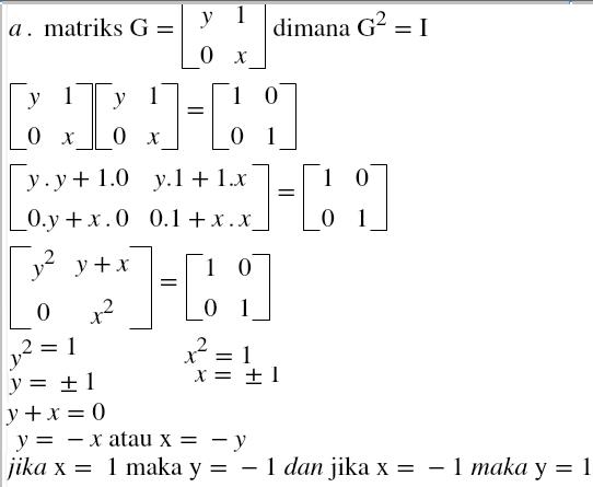 Rumus Dan Contoh Soal Matematika Latihan Soal Matriks Sma
