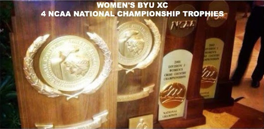 Patrick Shane: BYU's Four NCAA National Championship Trophies