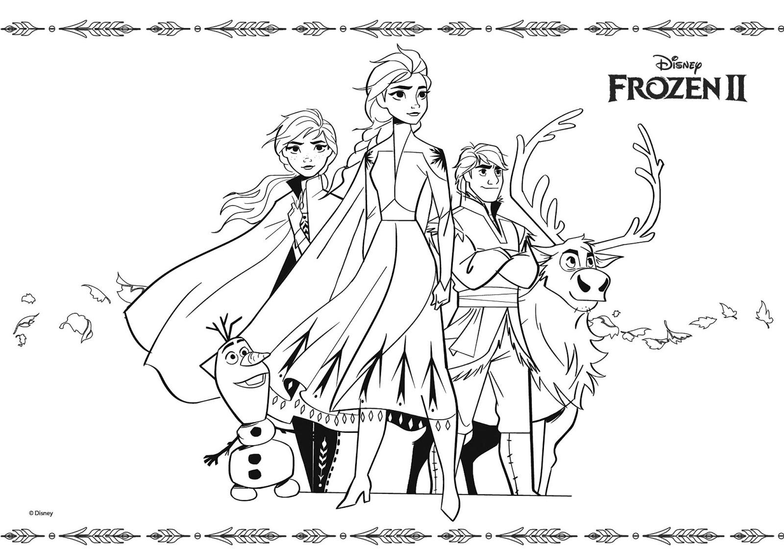 Tranh tô màu Elsa và Anna 03