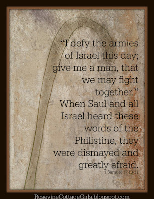 David and Goliath quote from 1 Samuel 1
