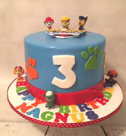 Magnificent My Pink Little Cake Paw Patrol Theme Cake Personalised Birthday Cards Veneteletsinfo
