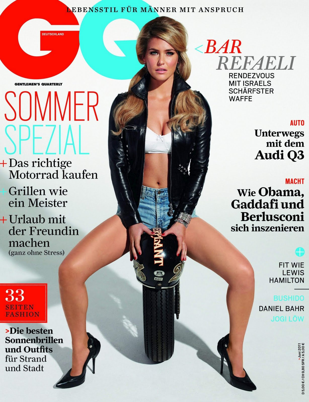 Bar Refaeli (GQ Germany, June 2011) - Models Inspiration