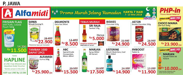 Katalog Promo ALFAMIDI Hemat Satu Pekan Periode 7 - 13 Mei 2018
