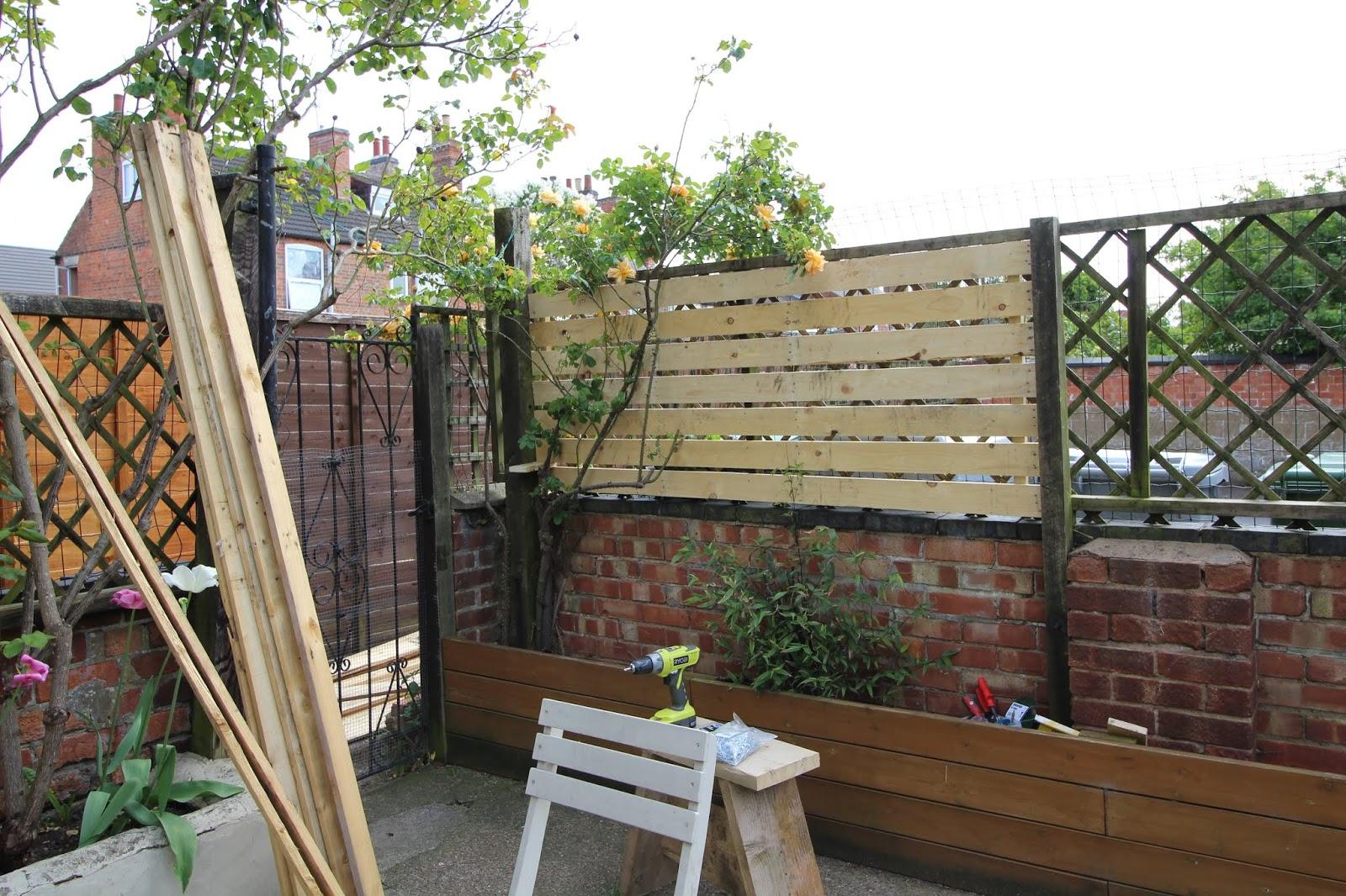 DIY Slat Fence