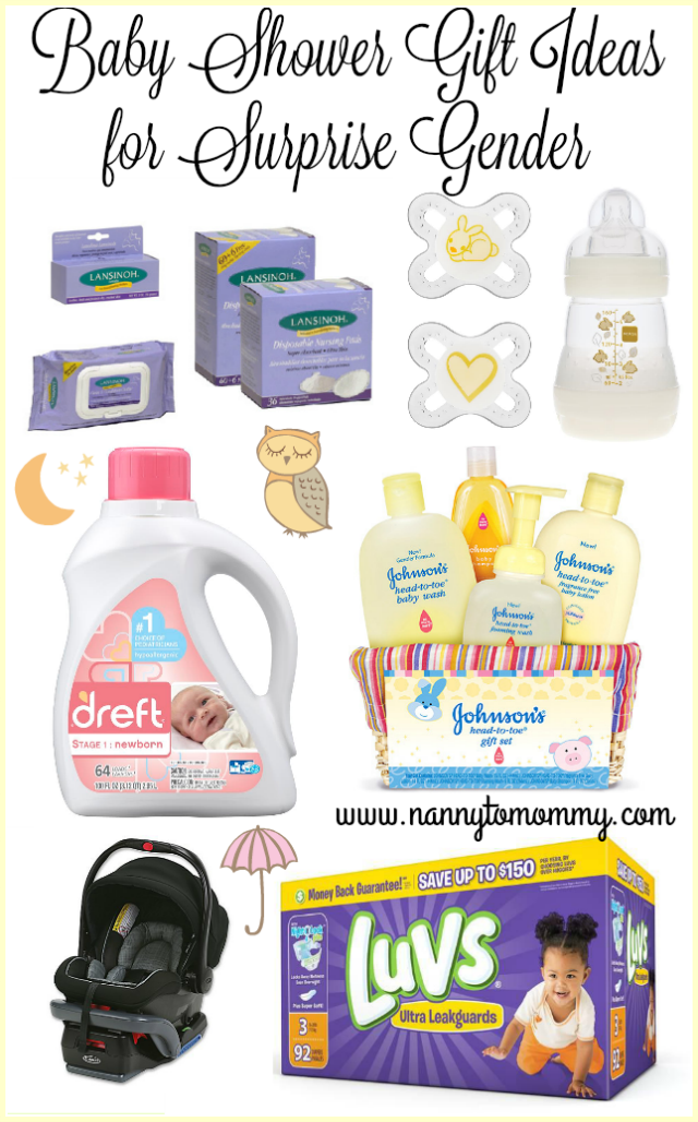 Nanny To Mommy Gender Neutral Baby Shower Gift Ideas