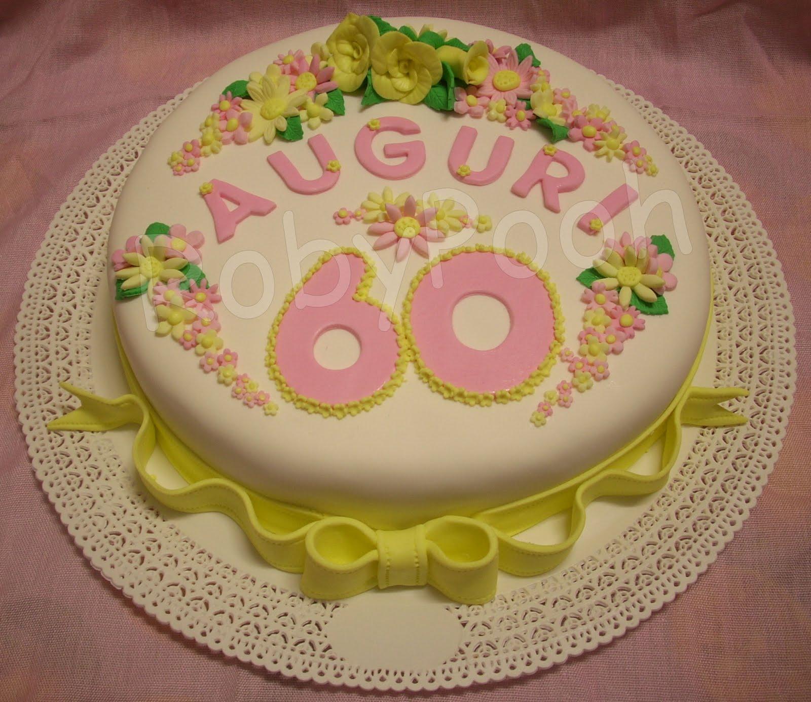 Fiori 60 Anni.Dolci Delizie Torta Fiocco E Fiori Per 60anni