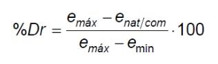 fórmula densidad relativa