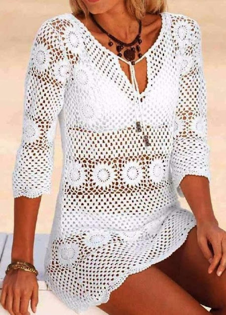 Free step-by-step crochet blouse