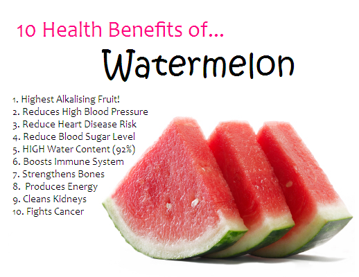 10 benefits of Watermelon