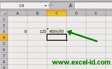 Cara Menghilangkan Error #DIV/0! di Ms. Excel | 300 Rumus ...