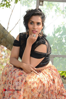 Actress Chetana Uttej Stills in Floral Long Skirt at Pichiga Nachav Movie Press Meet  0048.JPG