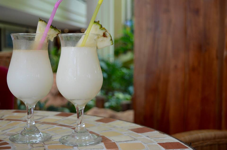 The all inclusive Cocktail menu at Blau Varadero, Cuba - pina colada