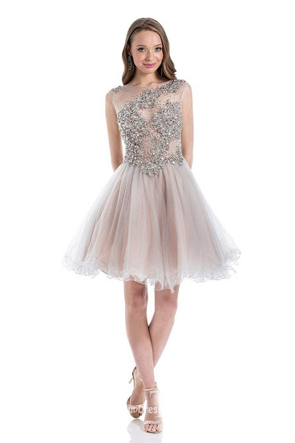 short tulle prom dress