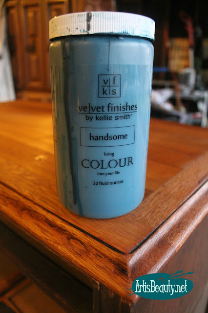 painting a dresser using velvet finishes by kellie smith handsome blue colour paint