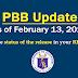 PBB Update as of Feb. 13, 2019