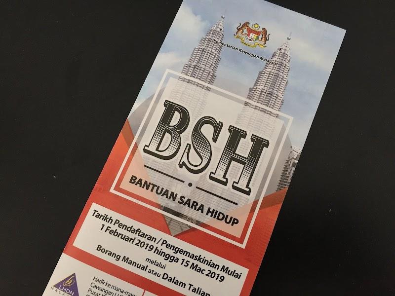 Bantuan Sara Hidup (BSH) 2019 Dibuka Untuk Permohonan
