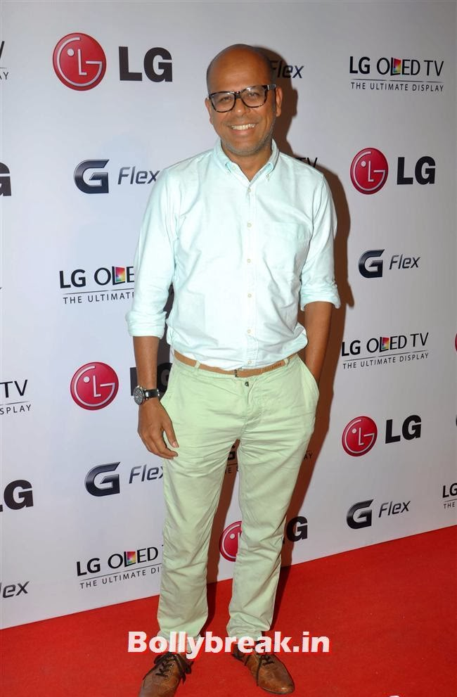Designer NArendra Kumar, Celebs at LG G Flex Smartphone Launch
