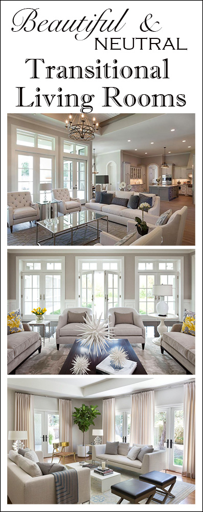 Beautiful Neutral Transitional Living Room Inspiration - The Kim Six Fix