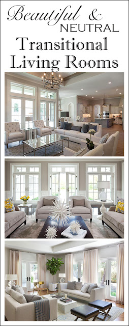 Beautiful and neutral transitional living room inspiration