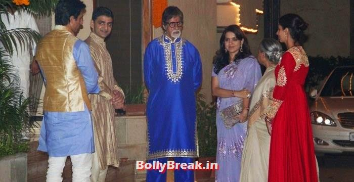Sonu Sood, Amitabh Bachchan, Shaina N C, Jaya Bachchan, Photos from Amitabh Bachchan's Diwali Bash 2014