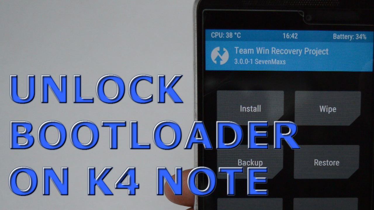 How to Unlock Bootloader on Lenovo K4 note (Complete guide