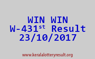 WIN WIN Lottery W 431 Results 23-10-2017
